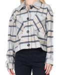 26 International Wool Like Plaid Crop Shacket - 5