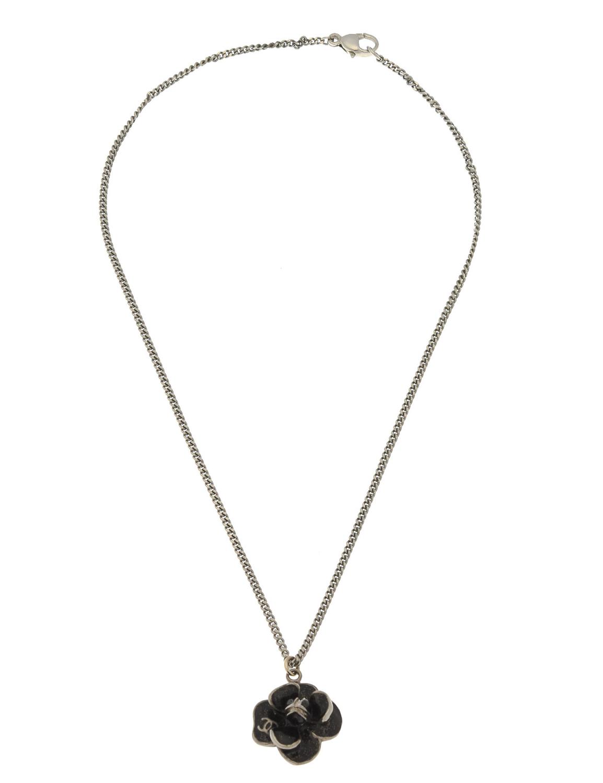 Chanel CC Logo Flower Pendant Necklace