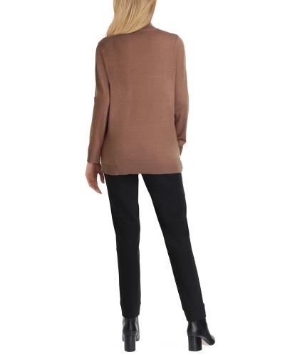 Isaac Mizrahi Long Sleeve Turtle Neck Sweater - Back