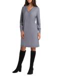 Isaac Mizrahi Long Sleeves V Neck Knitted Dress - 6