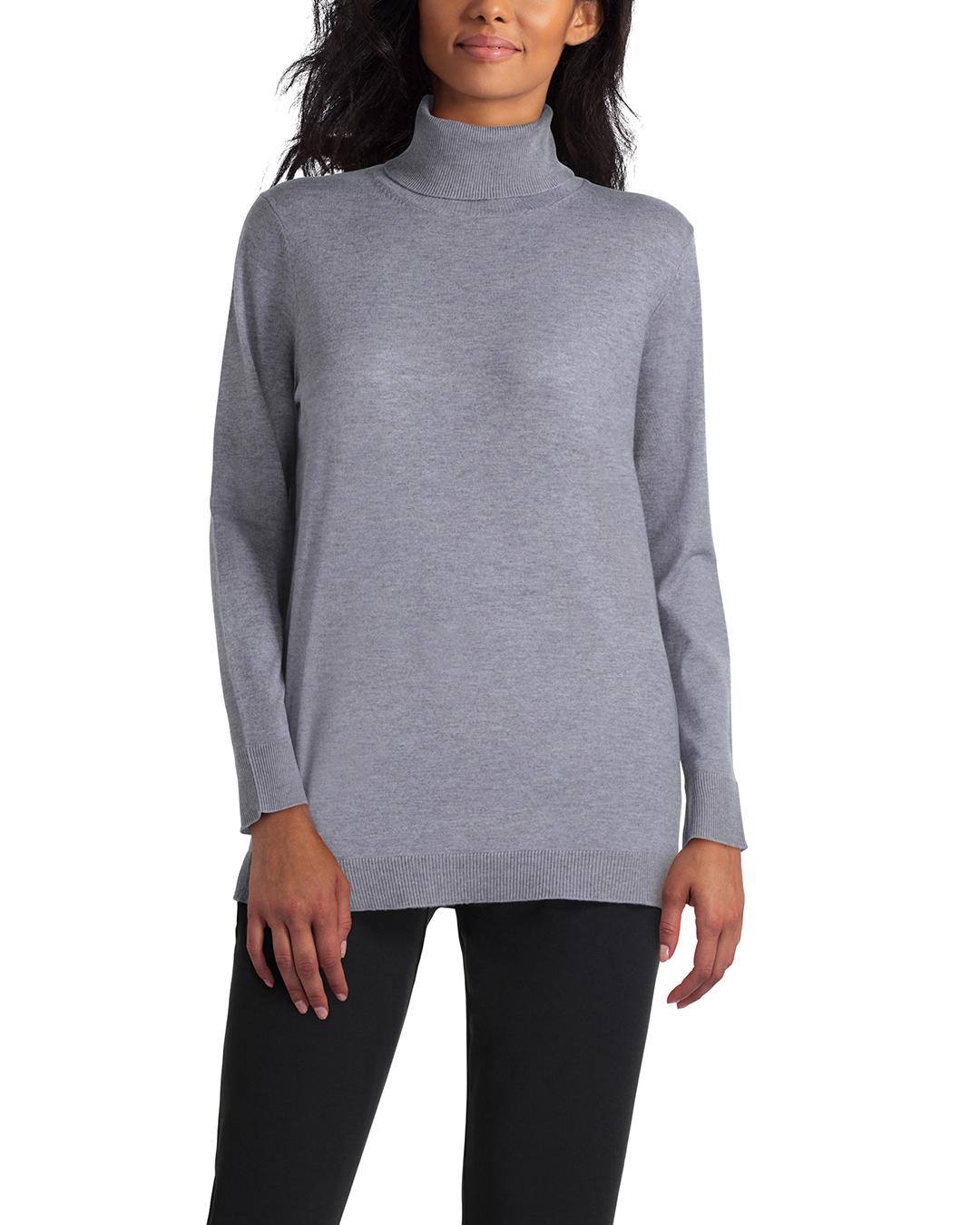 Isaac Mizrahi Long Sleeve Turtle Neck Sweater