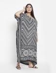 Trible Boho Long Kaftan Dress - Plus - 5