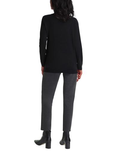 Isaac Mizrahi Long Sleeve Crew Neck Sweater - Back