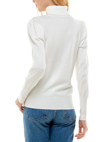 Alison Andrews Puff Sleeve Pullover Sweater - Back