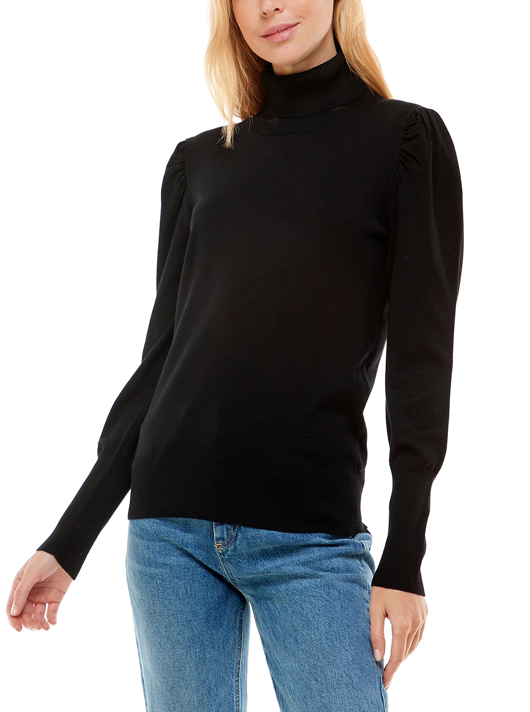 Alison Andrews Puff Sleeve Pullover Sweater