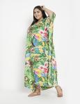 Floral Boho Long Kaftan Dress - Plus - 5
