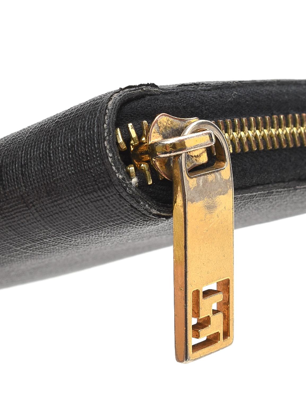 Fendi Zucchino Zip Around Wallet