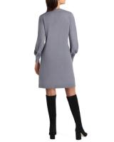 Isaac Mizrahi Long Sleeves V Neck Sweater Dress - Back