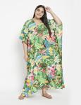 Floral Boho Long Kaftan Dress - Plus - 6