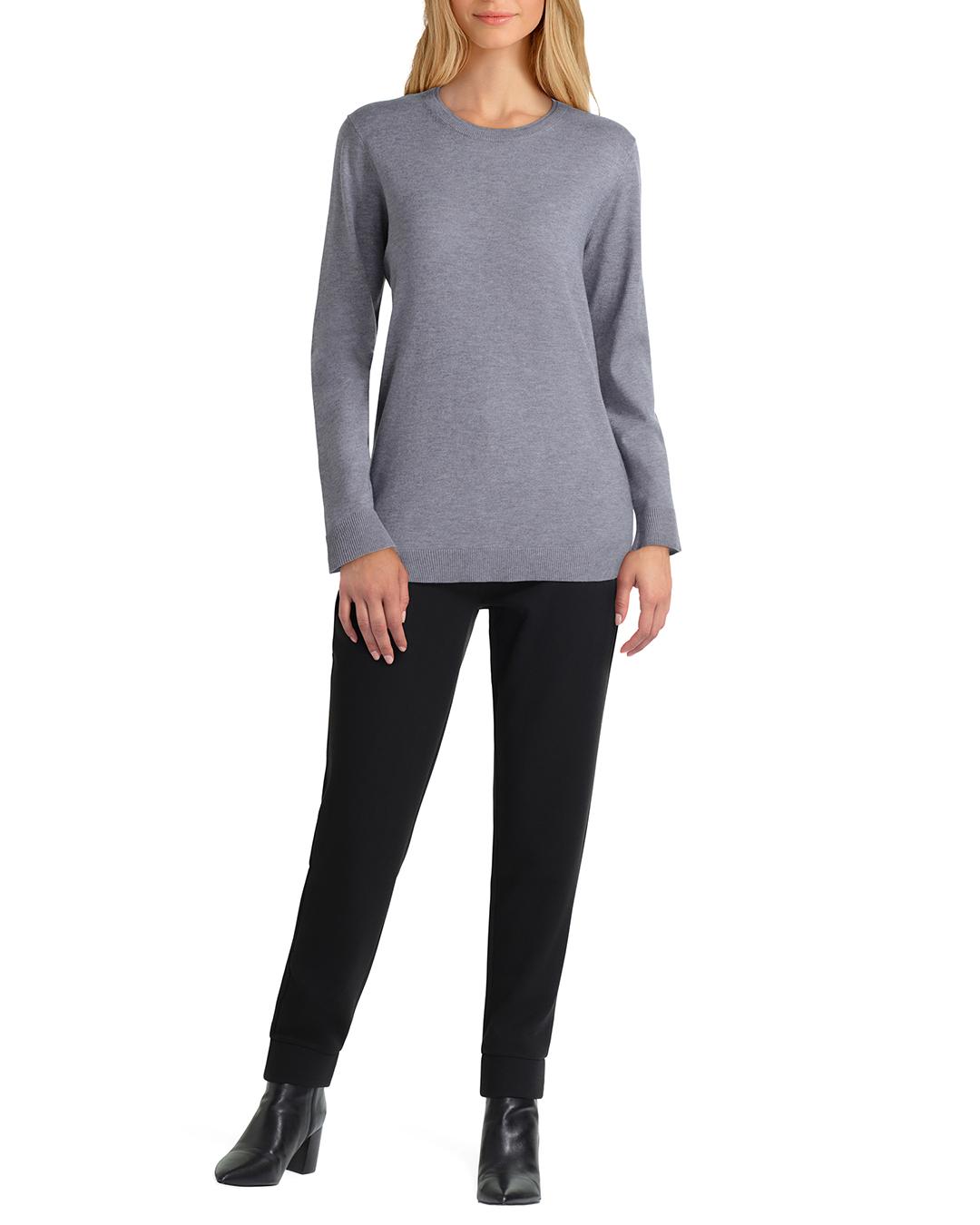 Isaac Mizrahi Long Sleeve Crew Neck Sweater