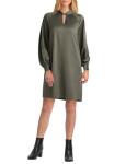 H Halston Long Sleeves Mock Tunic Dress - 1