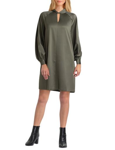 H Halston Long Sleeves Mock Tunic Dress