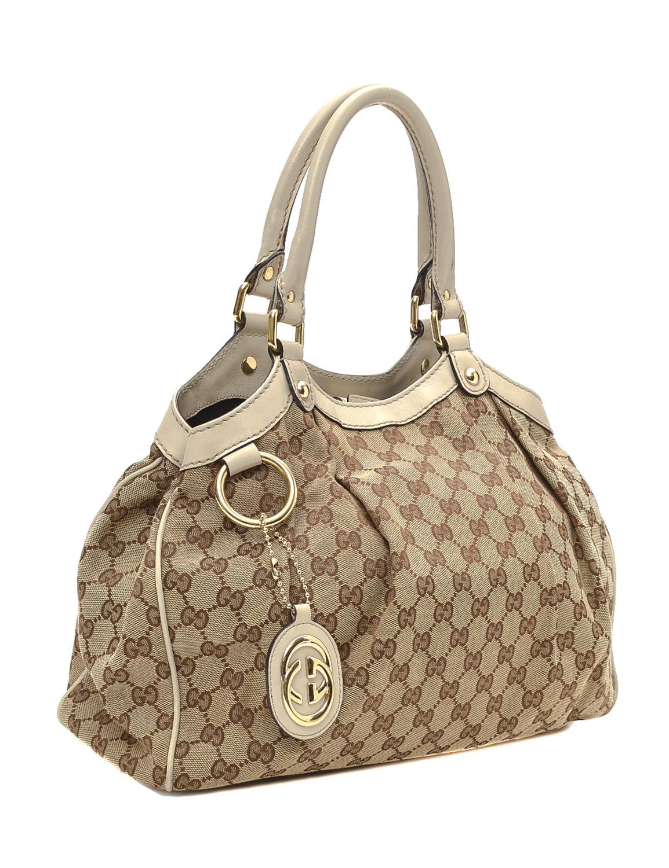 Gucci GG Canvas Sukey Medium Tote Bag