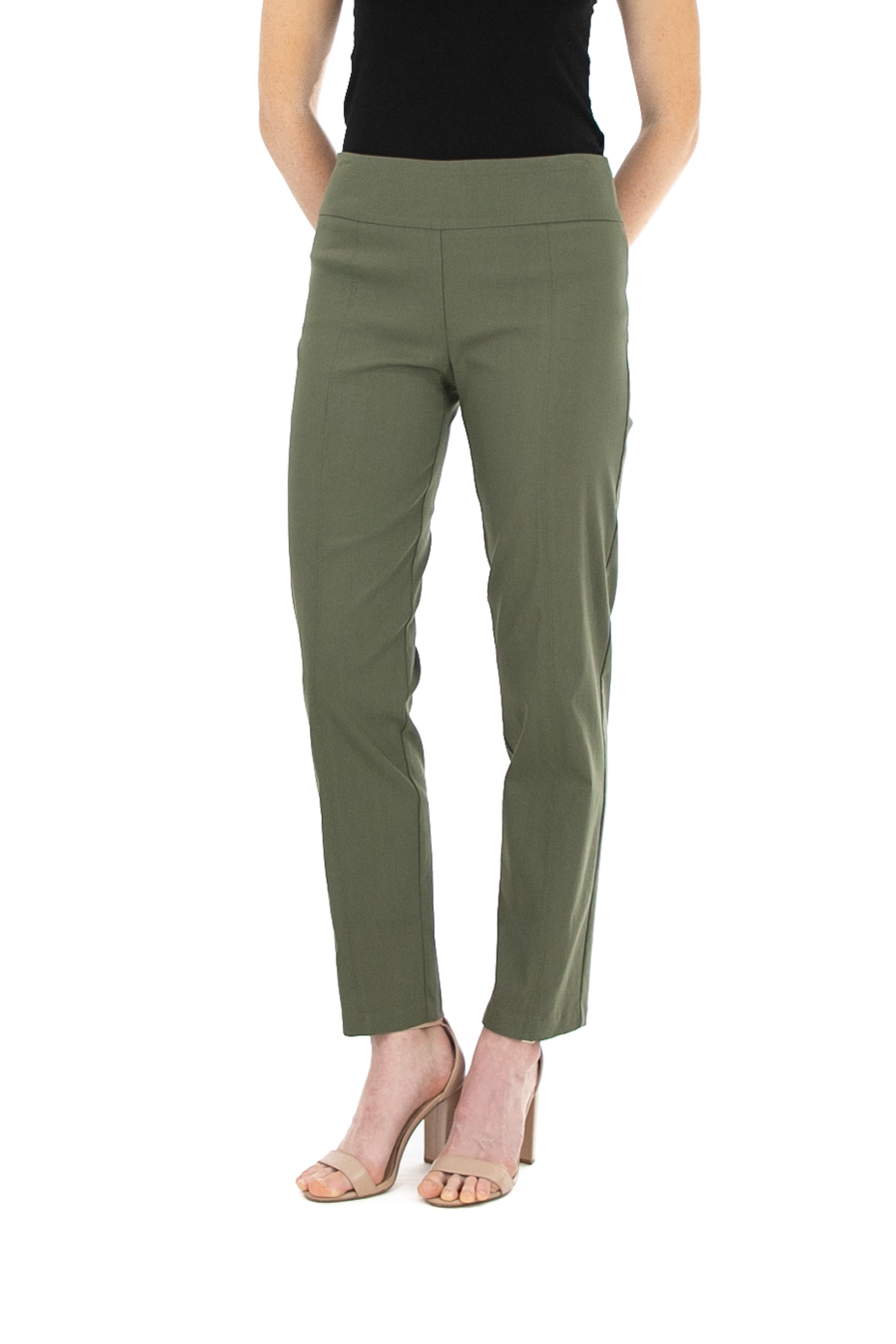Pull On Pant With Slimming Details