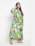 Floral Boho Long Kaftan Dress - Plus - 4