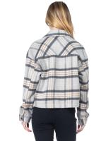 26 International Wool Like Plaid Crop Shacket - Back