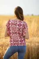 Roz & Ali Dolman Flutter Sleeve Blouse - Back