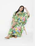 Floral Boho Long Kaftan Dress - Plus - 3