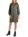 H Halston Long Sleeves Mock Tunic Dress - 3