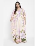 Floral Boho Kaftan Maxi Dress - Plus - 6