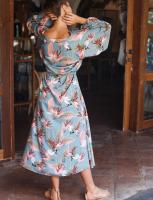 Sunday Wish Island Jade Shirt Dress - Plus - Back