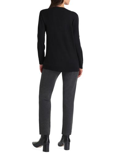 Isaac Mizrahi Long Sleeve V Neck Sweater - Back