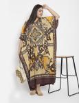 Polyester Long Paisley Kaftan Dress - Plus - 5
