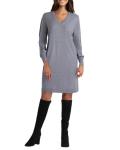 Isaac Mizrahi Long Sleeves V Neck Knitted Dress - 4