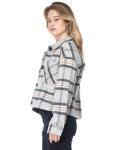 26 International Wool Like Plaid Crop Shacket - 4