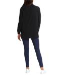 H Halston Studio Long Sleeve Mock Neck Raglan Pullover - 2