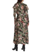 Gigi Parker Long Sleeves Wrap Dress With Ruffles - Back
