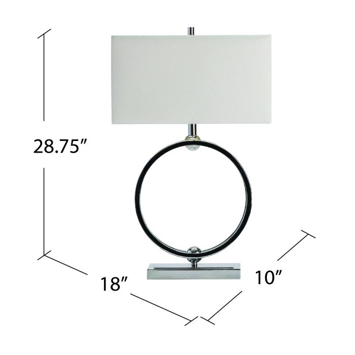 Inigo Polished Chrome Table Lamp