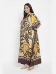 Polyester Long Paisley Kaftan Dress - Plus - 3