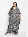 Trible Boho Long Kaftan Dress - Plus - 1