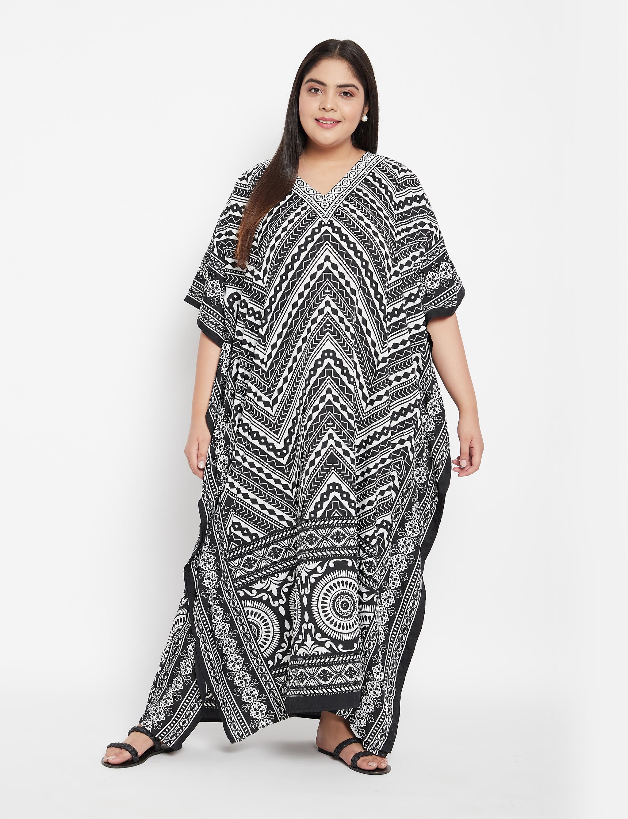 Trible Boho Long Kaftan Dress - Plus