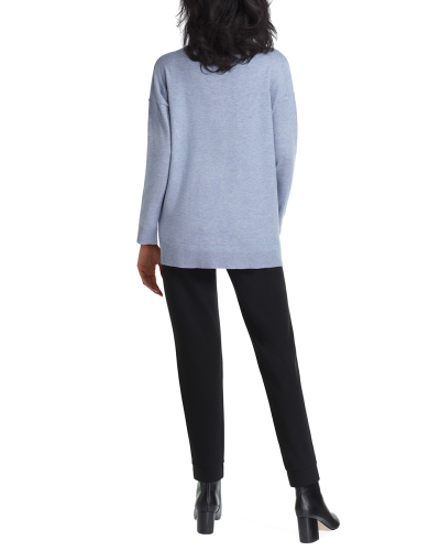 Isaac Mizrahi Long Sleeve Drape Neck Sweater - Back