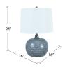 Cyrene Gray Embossed Ceramic Table Lamp