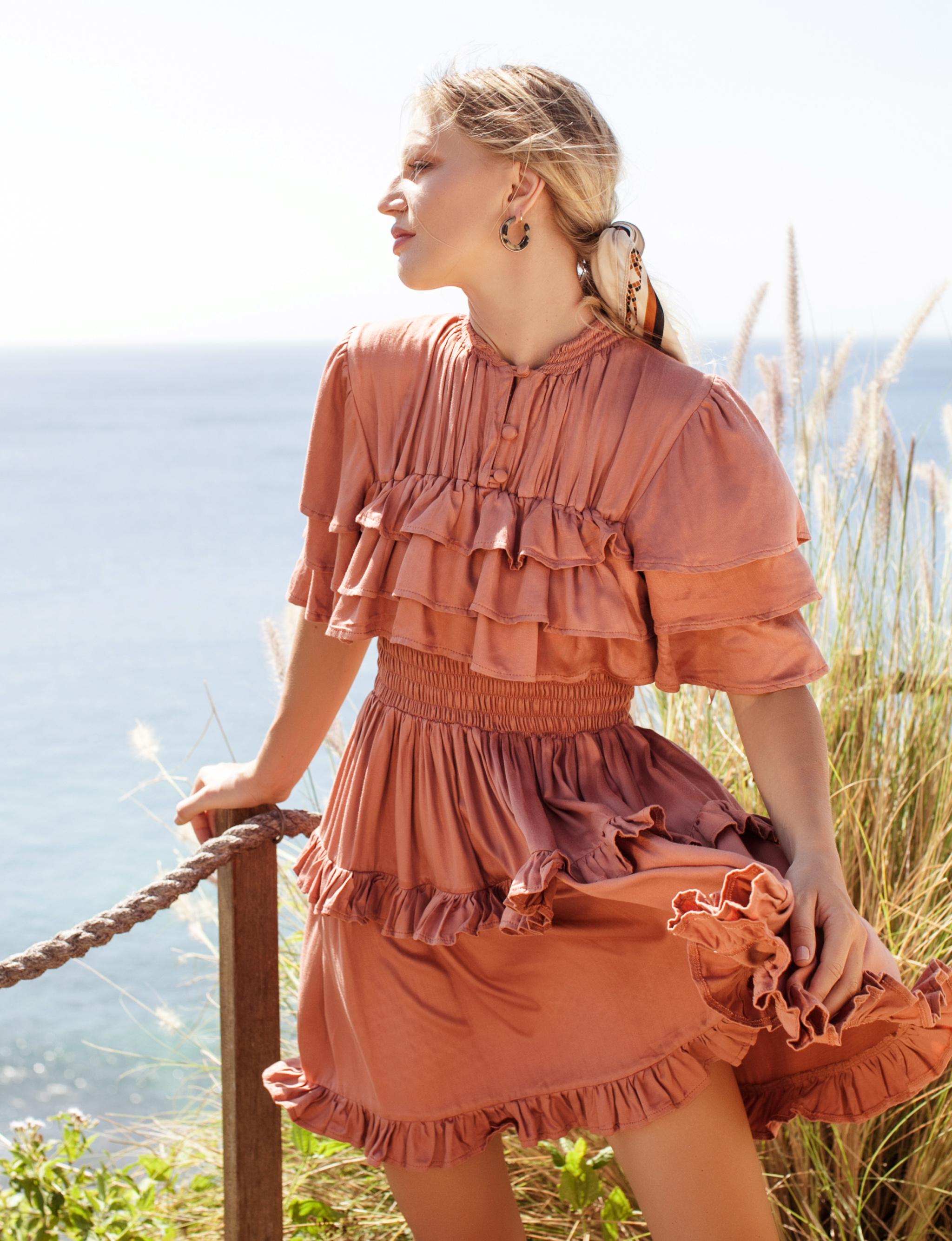 Linnette Victorian Style Mini Dress - Plus