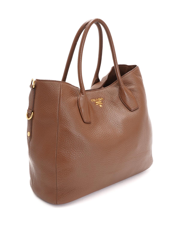 Prada Vitello Daino Two Way Tote Bag