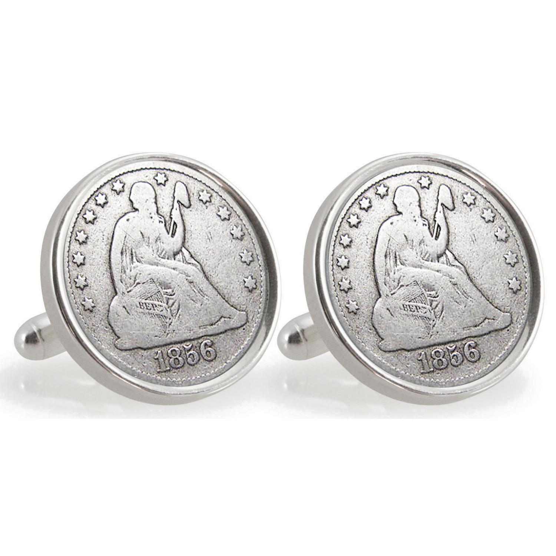 Auburn University 1856 Sterling Silver Dime Coin Cufflinks