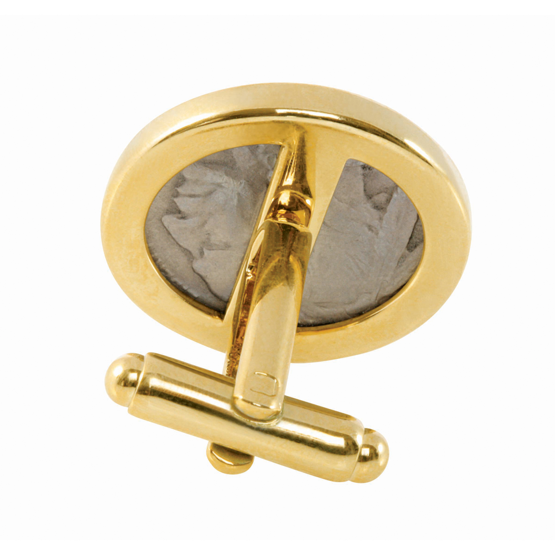 2005 Bison Nickel Gold Tone Bezel Coin Cufflinks