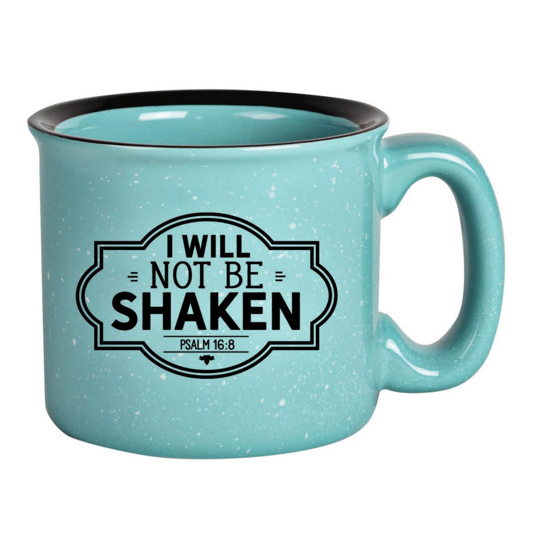 I Will Not Be Shaken Designer Ceramic Mug 15 Ounces