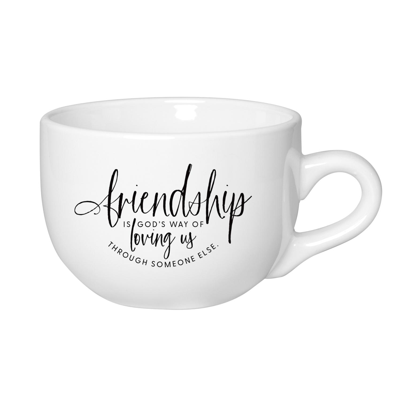 Friendship Is God's Designer Ceramic Mug - 20 Ounce