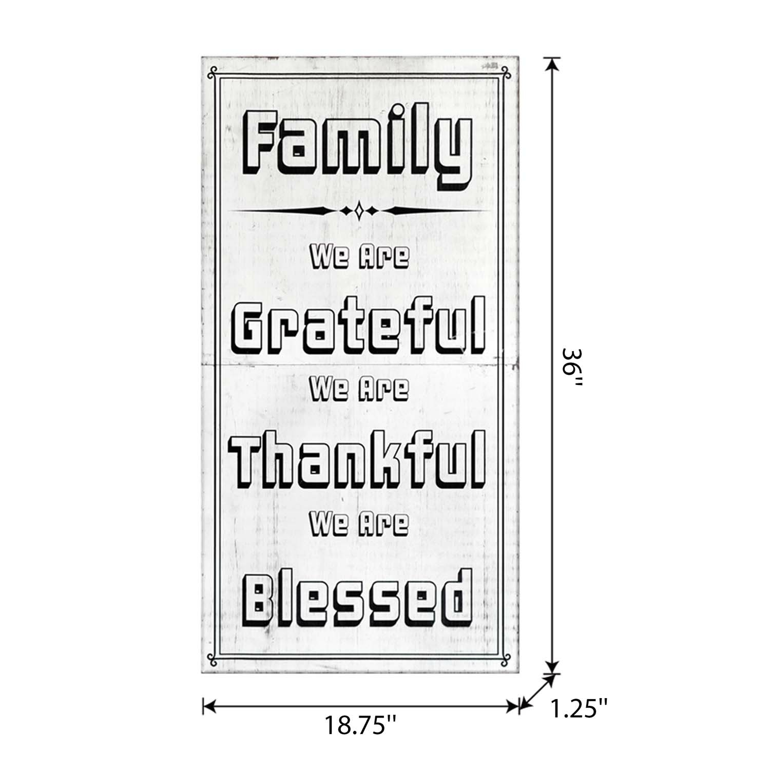 Craft Wood Easel Board 36In White Family-Thankful