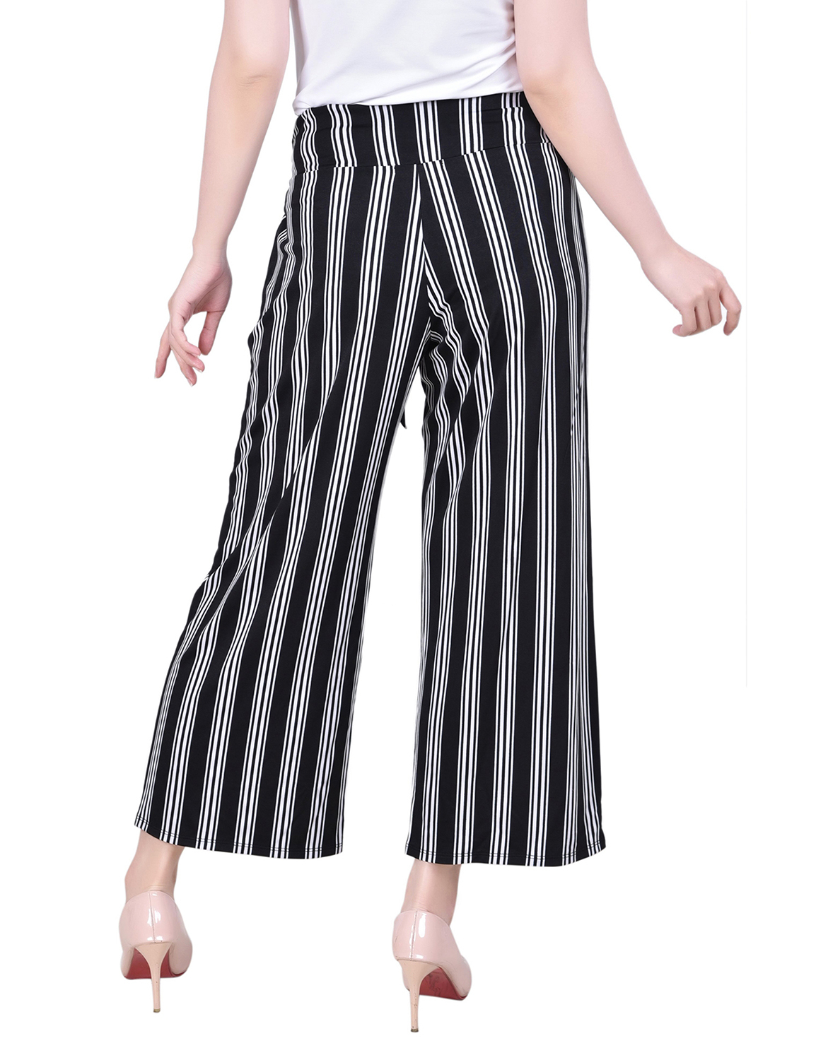 Ny Collection Cropped Pull On Pants With Sash