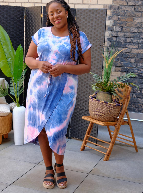 DB Sunday Tie Dye Tulip Front Dress