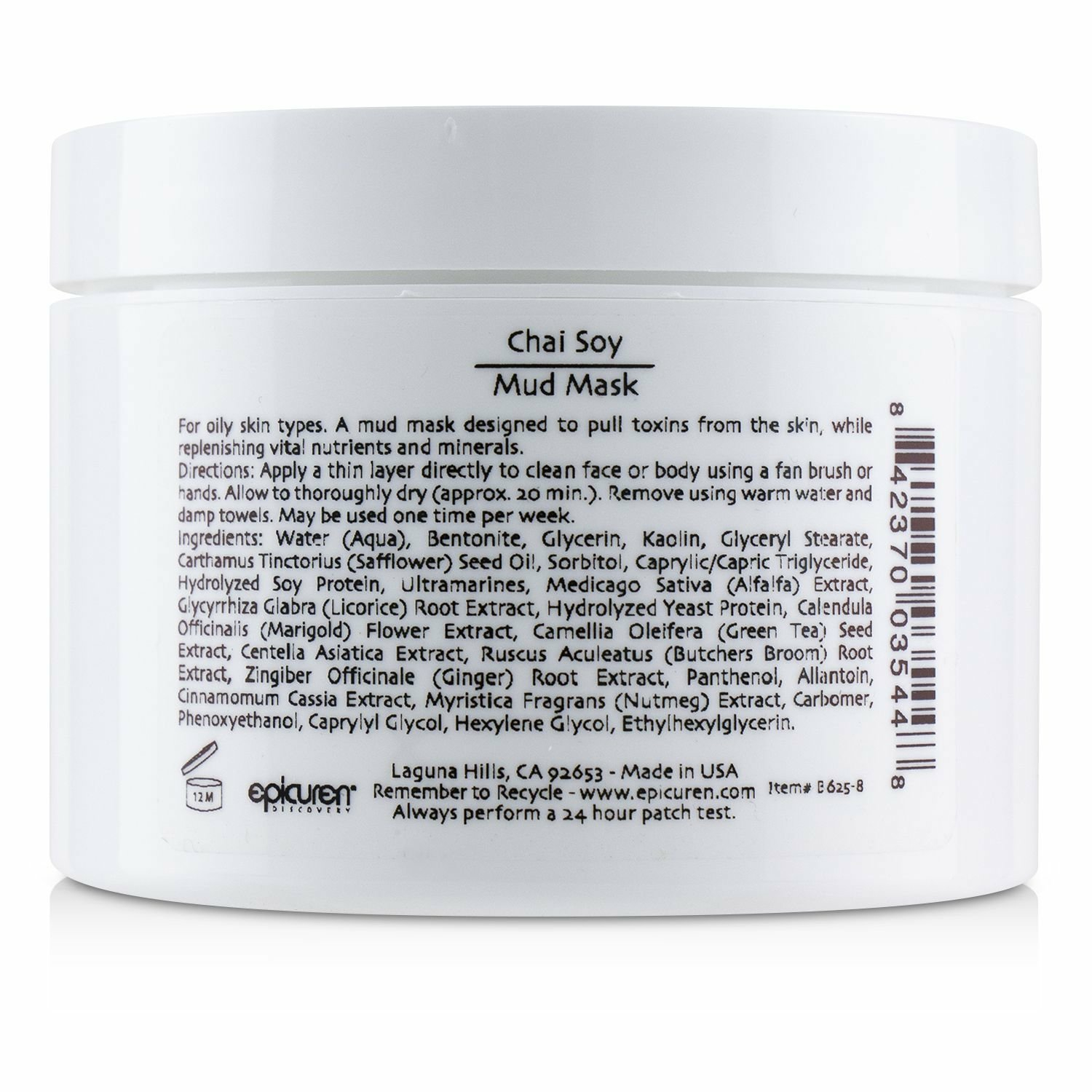 Epicuren Women's For Oily Skin Types Chai Soy Mud Mask