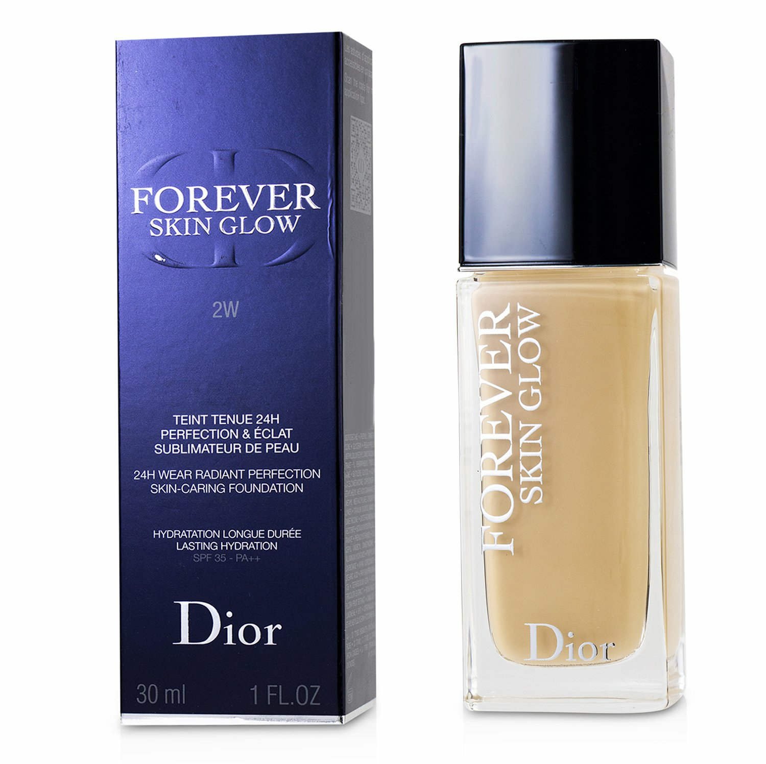 Christian Dior Women's # 1N Forever Skin Glow 24H Wear Radiant Perfection Foundation Spf 35
