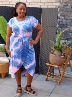DB Sunday Tie Dye Tulip Front Dress - Back