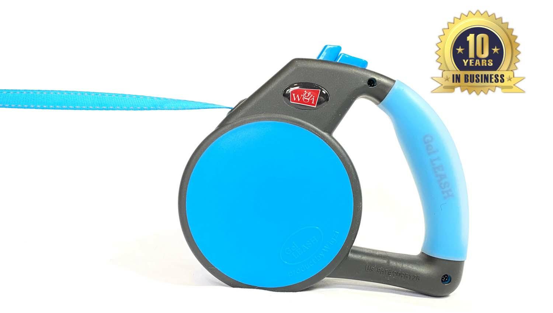 Wigzi Durable, Liquid Filled Gel Handle Comfort Grip Retractable Dog Leash